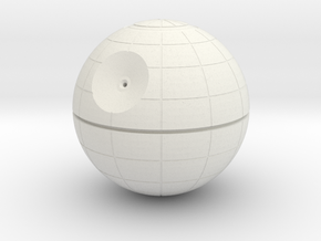 1/3M DEATH STAR in White Natural Versatile Plastic