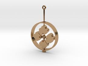 Family Emblem: Hanabishi (Single) in Polished Brass (Interlocking Parts)
