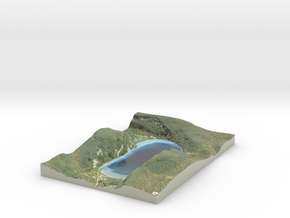 Devil's Lake Map - Bathymetry in Glossy Full Color Sandstone
