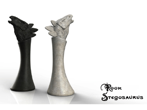 (Chess) Stegosaurus Rook in White Strong & Flexible