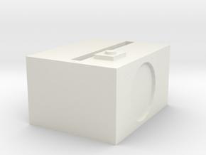 1.3 in White Natural Versatile Plastic: Medium