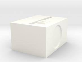 1.3 in White Processed Versatile Plastic: Medium