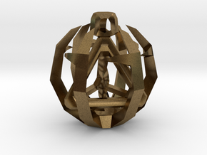 Tetrahedron in Natural Bronze