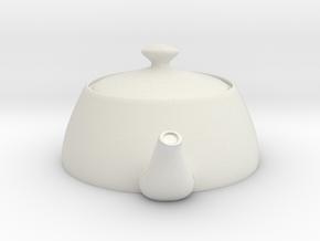 Nizaro T Pot Design06 in White Natural Versatile Plastic: Small
