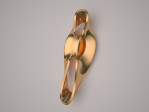Triple Cube Brass 050 in Polished Brass