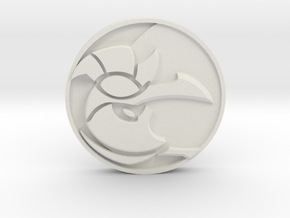 Azir Medal in White Natural Versatile Plastic