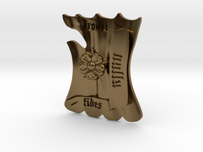 Fronti Nulla Fides shield in Polished Bronze