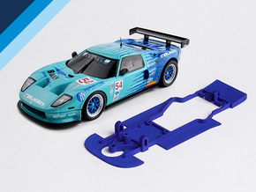 1/32 Ninco Ford GT Chassis for Slot.it AW pod in Blue Processed Versatile Plastic