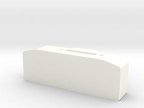 Winch box depth 25 mm for Warn hawse fairlead D90  in White Processed Versatile Plastic