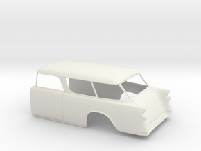 1955 Chevy Nomad Rear in White Natural Versatile Plastic
