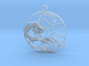 Fish and moon in Smooth Fine Detail Plastic: Medium