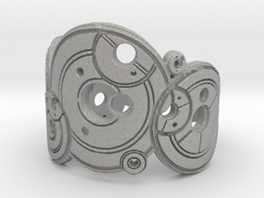 Dr. Who Gallifreyan Inversed Ring in Aluminum