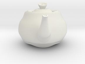 Nizaro T Pot Design10 in White Natural Versatile Plastic: Small