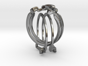 Holistic Ring interlocking metal in Interlocking Polished Silver