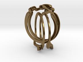 Holistic Ring interlocking metal in Polished Bronze (Interlocking Parts)