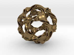 Dodeca-ducov (no holes) in Natural Bronze