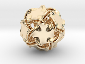 Icosa-ducov (no holes) in 14K Yellow Gold