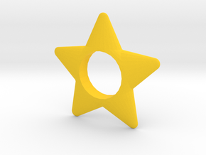 Star Hand Spinner in Yellow Processed Versatile Plastic