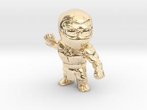 Ninja-Small in 14k Gold Plated Brass