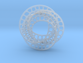 3 quarter twist Möbius strip in Smooth Fine Detail Plastic