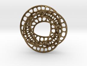 3 quarter twist Möbius strip in Natural Bronze