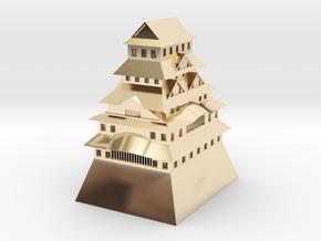 Himeji Castle in 14K Yellow Gold