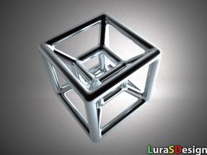 The Hypercube in Stainless Steel