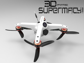 Fusion Micro FPV Frame 97 in White Strong & Flexible