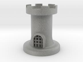 Castle for Chess in Metallic Plastic