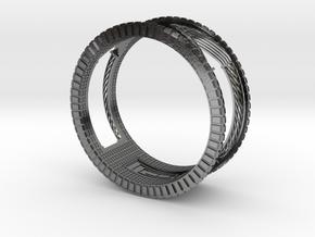 Verbundener Ring in Polished Silver