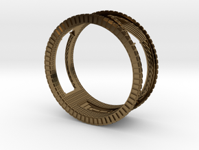 Verbundener Ring in Polished Bronze