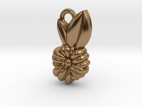 Flower Pendant in Natural Brass