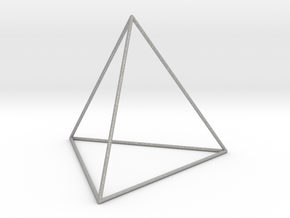 0592 Tetrahedron E (a=10-100mm) #001 in Aluminum: Extra Large
