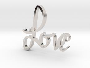 Love in Rhodium Plated Brass