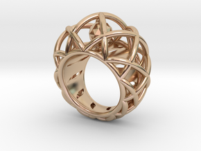 Bridget (size 61) in 14k Rose Gold Plated Brass: 10 / 61.5