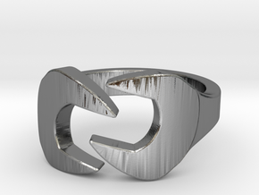Wrench Ring in Polished Silver: 7 / 54