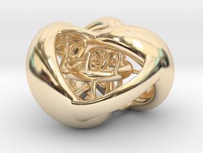Tetrahedron Hopf preimage (corners) in 14K Yellow Gold