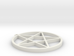 Dresden Pentagram in White Natural Versatile Plastic