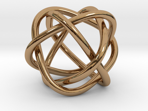 4 rings in Polished Brass (Interlocking Parts)