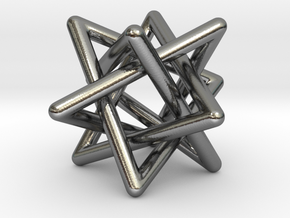 4 triangles in Polished Silver (Interlocking Parts): Small