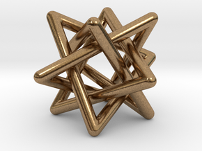 4 triangles in Natural Brass (Interlocking Parts): Small