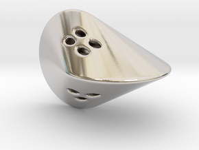Oloid D4 in Rhodium Plated Brass