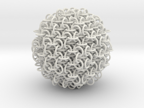 3D chainmaille ball in White Natural Versatile Plastic