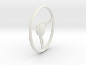 GT500 Steering Wheel 1/12 in White Natural Versatile Plastic
