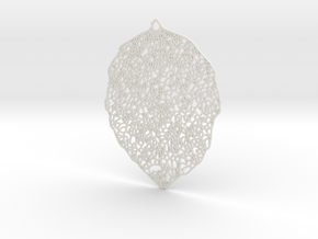 Aspen Leaf in White Strong & Flexible