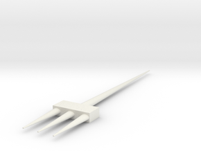 Intersect in White Natural Versatile Plastic: Extra Small