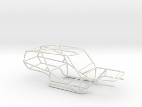 Mad Force Roll Cage in White Natural Versatile Plastic: 1:8