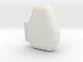 1/10 CB Radio Microphone in White Natural Versatile Plastic