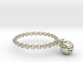 Dolphin Moon Bracelet in 14k White Gold