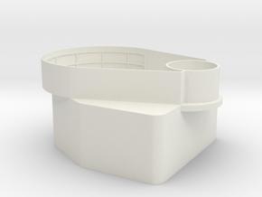 1/72 Tear Drop Gun Tub in White Natural Versatile Plastic